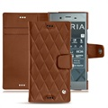Sony Xperia XZ1 Noreve Tradition B Wallet Leather Case - Couture Brown