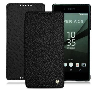 Sony Xperia Z5, Xperia Z5 Dual Noreve Tradition D Flip Leather Case - Ambition - Ebène