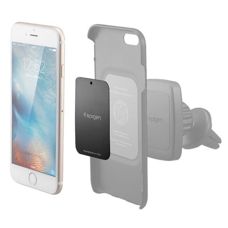 Spigen Kuel A210 Car Mount Metal Plates - Black