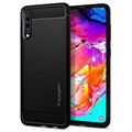 Spigen Rugged Armor Samsung Galaxy A70 TPU Case - Matte Black