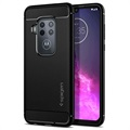 Spigen Rugged Armor Motorola One Zoom TPU Case - Black