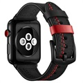 Apple Watch Series 5/4/3/2/1 Stitched Leather Strap - 42mm, 44mm