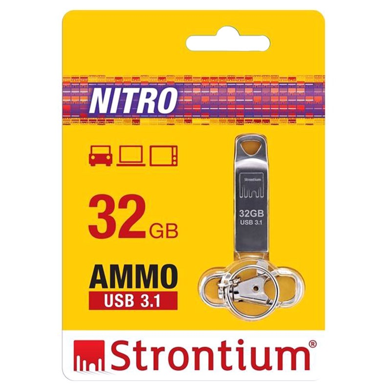 strontium nitro ammo usb 3 1 flash drive 32gb. Black Bedroom Furniture Sets. Home Design Ideas