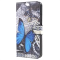 HTC U11 Style Series Wallet Case - Blue Butterfly