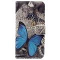 Huawei Honor 6A Style Series Wallet Case - Blue Butterfly