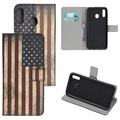 Style Series Samsung Galaxy A20e Wallet Case - Vintage American Flag