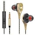 Stylish Four-Driver Stereo In-Ear Headphones