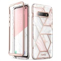 Supcase Cosmo Samsung Galaxy S10 Hybrid Case - Pink Marble