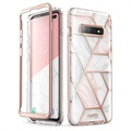 Supcase Cosmo Samsung Galaxy S10+ Hybrid Case - Pink Marble