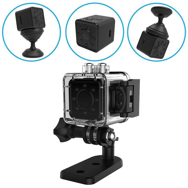 Super Mini Full HD Action Camera with Night Vision SQ13 - Black