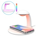 Swan Shape Fast Wireless Charger and LED Lamp with Touch Control - 10W
