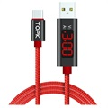 TOPK AC27 USB-C Data & Charging Cable with LCD Display - 1m - Red