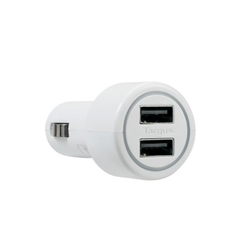 Targus Universal Dual USB Car Charger - White