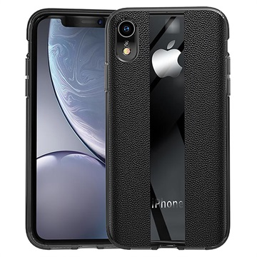 Textured Leather-coated iPhone XR TPU Case