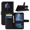 Nokia 9 PureView Textured Wallet Case with Stand - Black