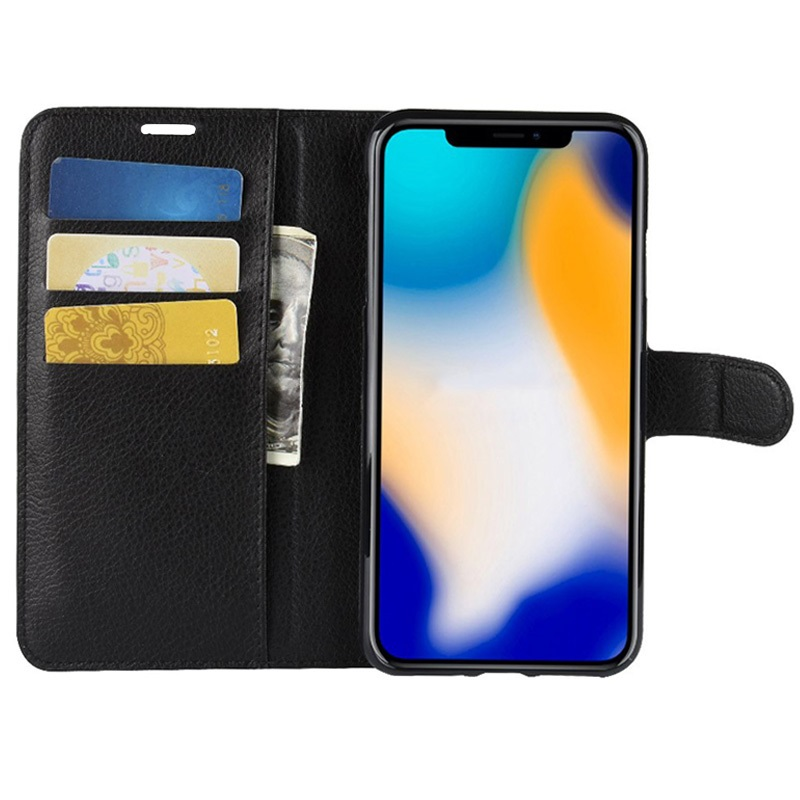 iPhone XS Max Textured Wallet Case with Stand