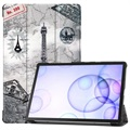 Tri-Fold Series Samsung Galaxy Tab S6 Smart Folio Case - Eiffel Tower