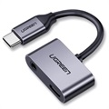 Ugreen 2-in-1 Charge & Audio USB-C Adapter - 1.5A - Grey