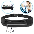 Ultimate Water Resistant Sports Belt with Bottle Holder - Black