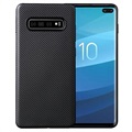 Samsung Galaxy S10+ Ultra-Slim TPU Cover - Carbon Fiber - Black