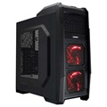 Ultron Game-X6 129214 Mid Tower ATX PC Case - Black / Red
