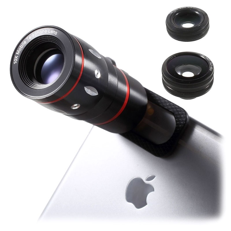 Universal 4 in 1 Clip Camera Lens Kit