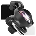 Universal 75mm Super Macro Clip-On Camera Lens - Black
