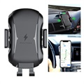 Universal Air Vent Car Holder - Qi Wireless Charger - Black
