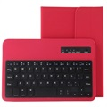 "Universal Tablet Bluetooth Keyboard & Leather Case 7""-8"" - Red"