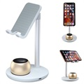 Universal Desktop Holder with Bluetooth Speaker K2-Pro - Silver / Gold