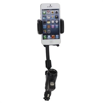 Universal Dual USB Car Charger / Holder