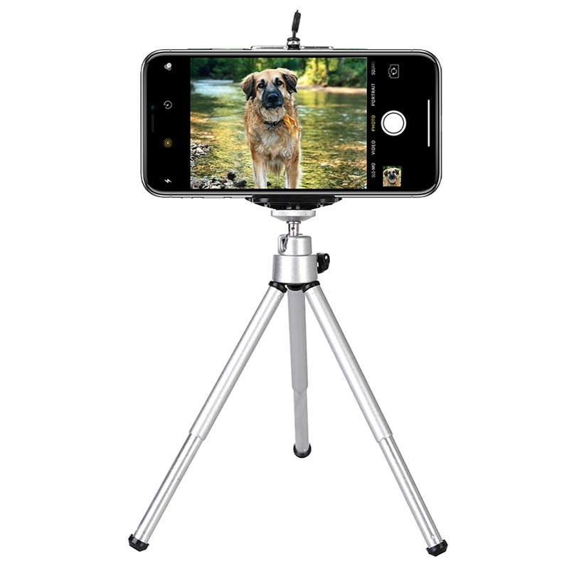 Universal Mobile Phone Aluminium Tripod Stand / Holder