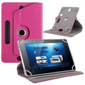"Universal Rotary Folio Case for Tablets - 7"" - Hot Pink"