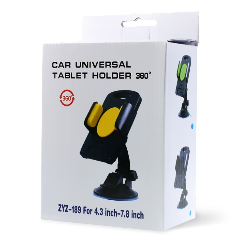 Universal Smartphone / Tablet Car Holder - Yellow / Black