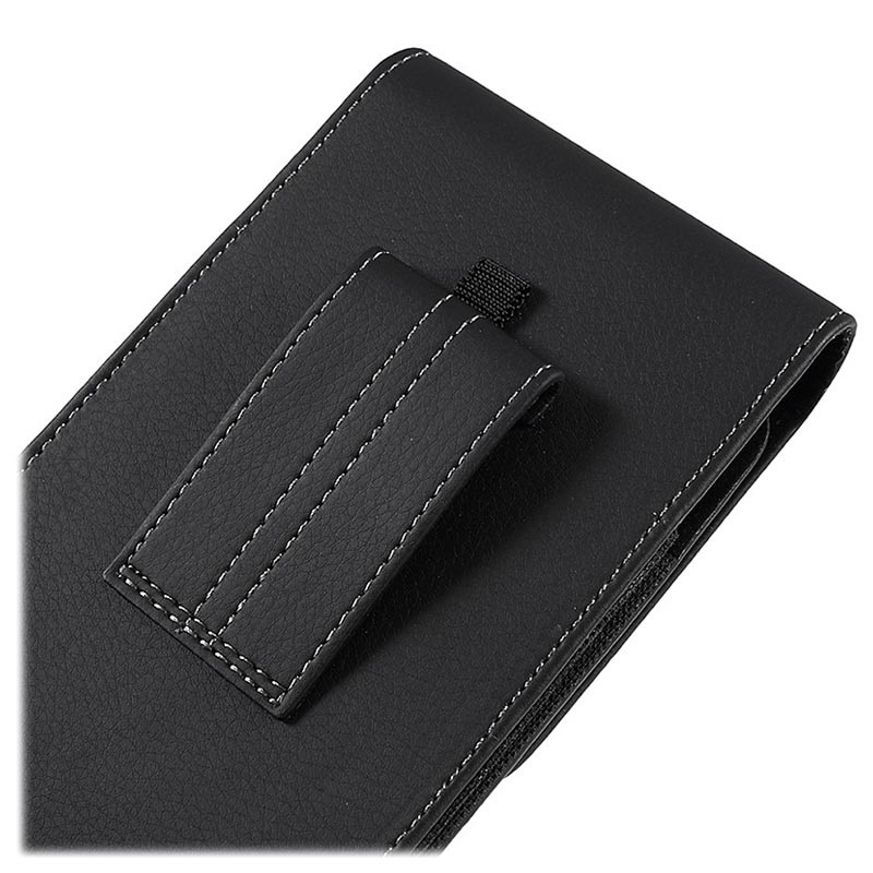 Universal Vertical Smartphone Holster Pouch - 6.7in - Black
