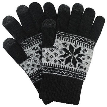 Universal Winter Pattern / Snowflake Touch Screen Gloves