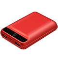 Usams Mibo US-CD22 Dual USB Power Bank - 10000mAh - Red