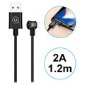 Usams US-SJ254 U13 Right-Angle Smart Power Off Lightning Cable - Black
