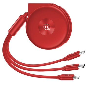 Usams US-SJ280 3-in-1 Retractable USB Cable