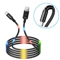 Usams US-SJ287 USB-C LED Charging Cable - 2A - Black
