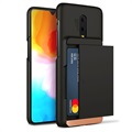 VRS Damda Glide OnePlus 6T Cover with Card Holder - Black