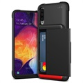 VRS Damda Glide Samsung Galaxy A50 Cover with Card Holder - Black