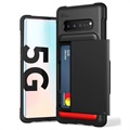 VRS Damda Shield Samsung Galaxy S10 5G Cover with Cardholder - Black