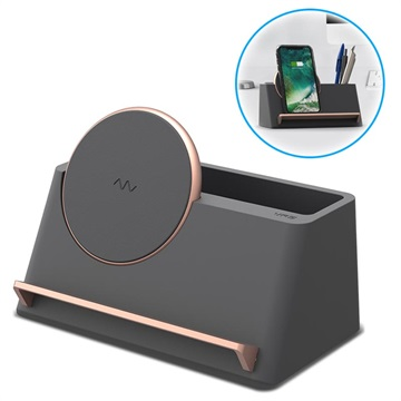 VRS Design Halo Box Qi Wireless Charger - Dark Grey