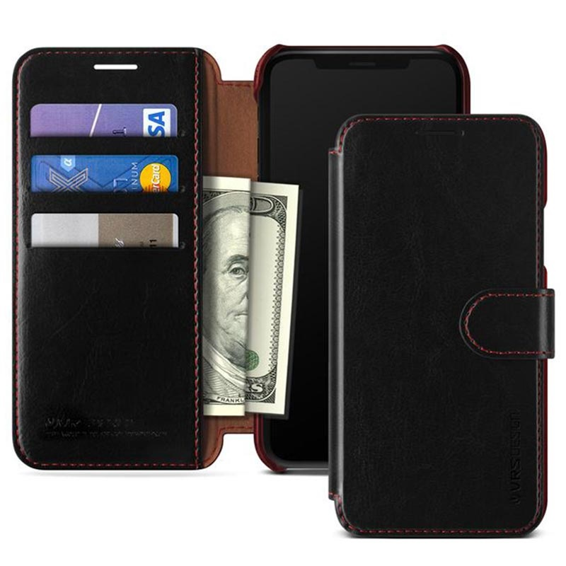 iPhone XR VRS Design Layered Dandy Wallet Case