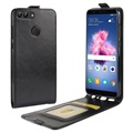 Huawei P Smart Vertical Flip Case with Card Slot - Black