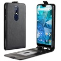 Nokia 7.1 Vertical Flip Case with Card Slot - Black