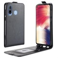 Samsung Galaxy A8s Vertical Flip Case with Card Slot - Black
