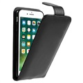 iPhone 7 / iPhone 8 Vertical Flip Case with Card Slot - Black
