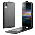 Sony Xperia L3 Vertical Flip Case with Card Holder